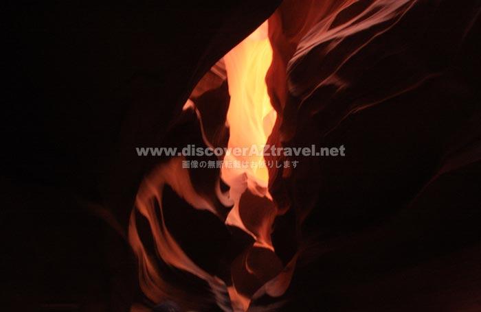 アンテロープキャニオンの素晴らしい内部風景